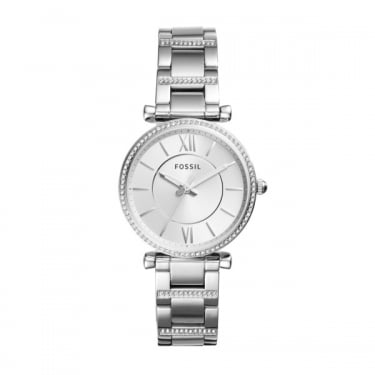Fossil Ladies Silver Carlie Watch