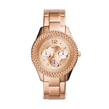 Fossil Ladies Stella Rose Gold Watch