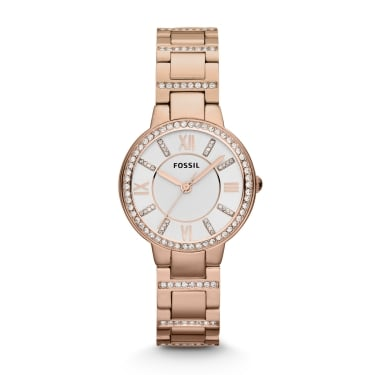 Fossil Ladies Virginia Rose Gold Watch