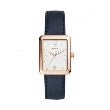 Fossil Navy Leather Strap Atwater Watch