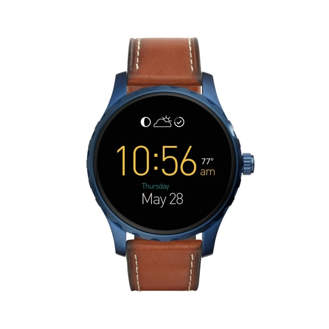 Fossil Q Marshal Gents Brown Leather Strap Wearable