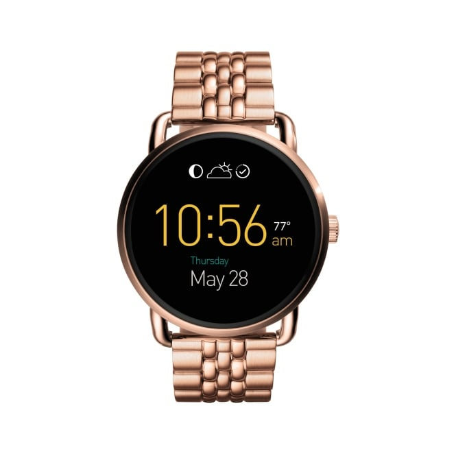 Fossil Q Wander Ladies Rose Gold Strap Wearable