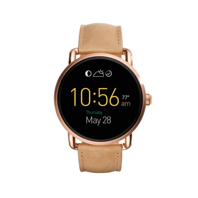 Fossil Q Wander Ladies Tan Leather Strap Wearable