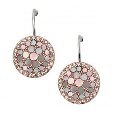 Fossil Rose Gold Vintage Glitz Earrings