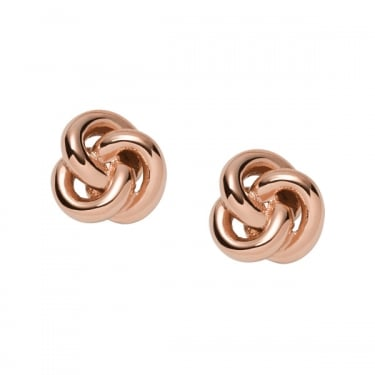 Fossil Rose Gold Vintage Iconic Earrings