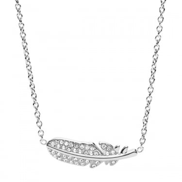 Fossil Silver Feather Iconic Necklace