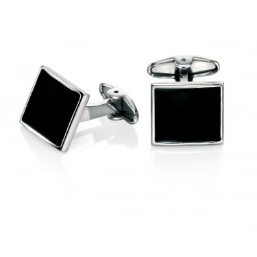 Fred Bennett Black Square Onyx Cufflinks
