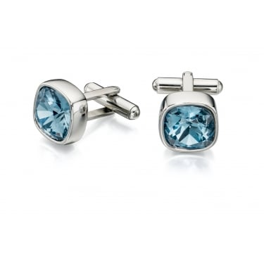 Fred Bennett Blue Steel Denim Swarovski Crystal Cufflinks