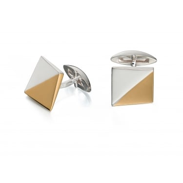 Fred Bennett Gold Plate Inlay Square Cufflinks