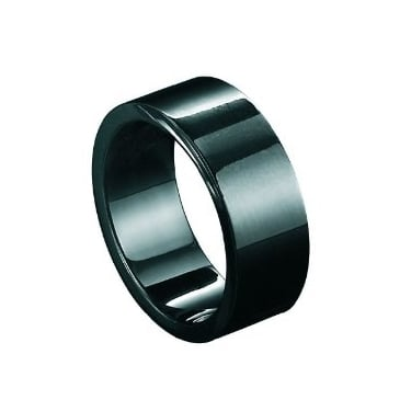 Fred Bennett Stainless Steel Black Ring