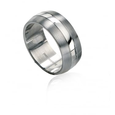 Fred Bennett Stainless Steel Brushed & Polished Ring