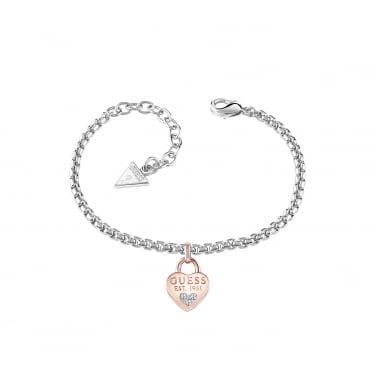 Guess All About Shine Silver and Rose Gold Bracelet