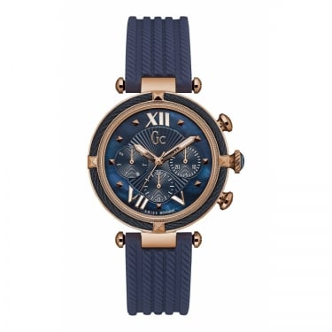 Guess Collection Gents Cablechic Navy Silicone Watch