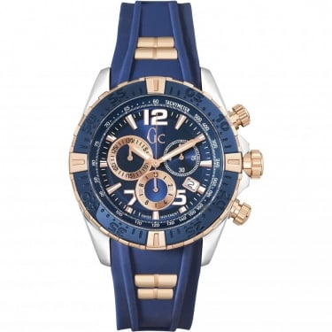 Guess Collection Gents Sportracer Chronograph Blue Watch