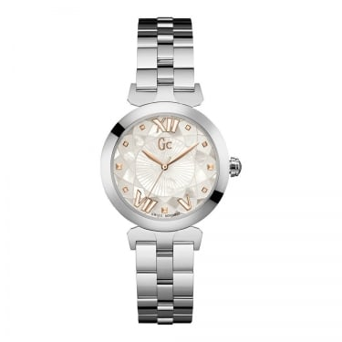 Guess Collection Ladies Lady Bell Chronograph Steeel Fancy Dial Watch