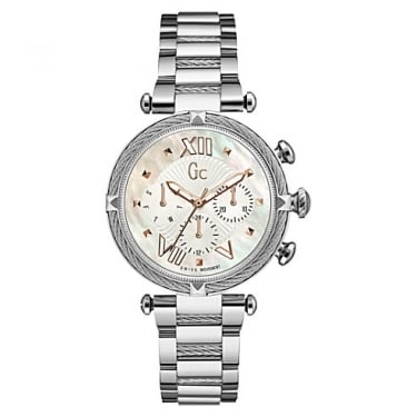 Guess Collection Ladies Ladychic Chronograph Steeel Cable Watch