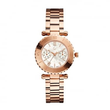 Guess Collection Ladies Rose Gold Diver Chic Watch