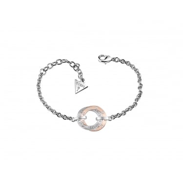 Guess E-Motions Two Tone Rose Bracelet