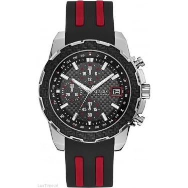 Guess Gents Black Red Octane Watch