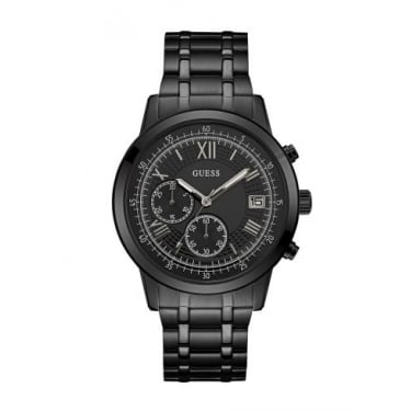 Guess Gents Black Summit Watch