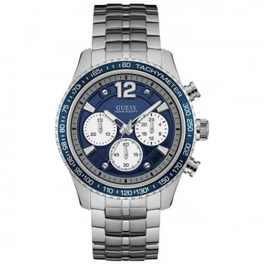 Guess Gents Fleet Steel Bracelet Navy Dial Watch