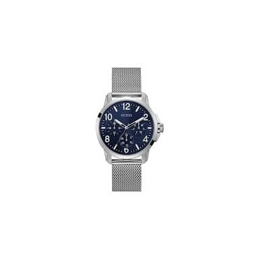 Guess Gents Silver Navy Voyage Watch