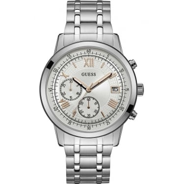 Guess Gents Silver Summit Watch