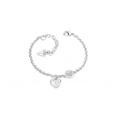 Guess Heart Devotion Silver Gold Bracelet