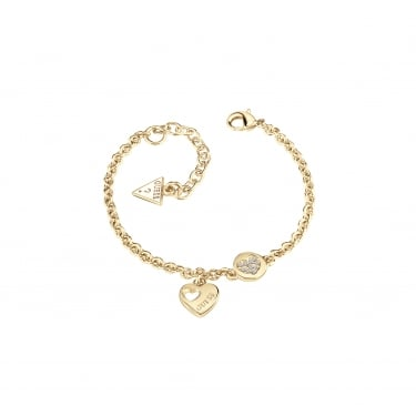 Guess Heart Devotion Yellow Gold Bracelet
