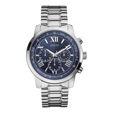 Guess Horizon Silver Watch Gents