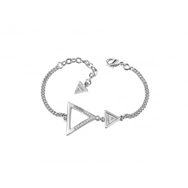 Guess Iconic 3 Angles Silver Bracelet