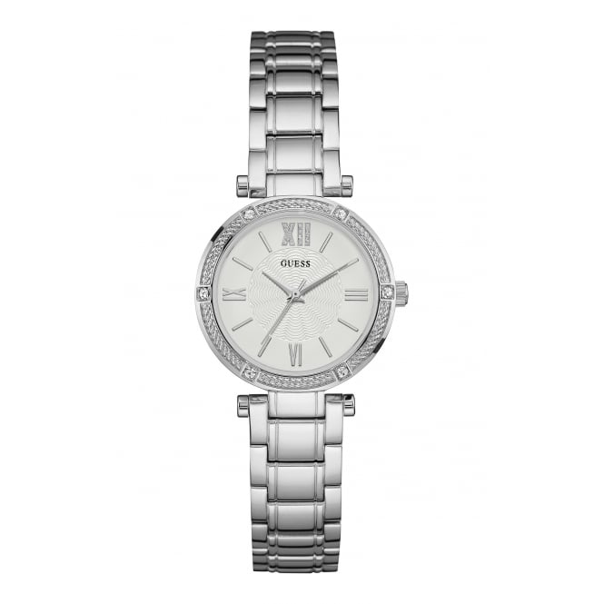 Guess Ladies Park Ave South Silver Strap Watch