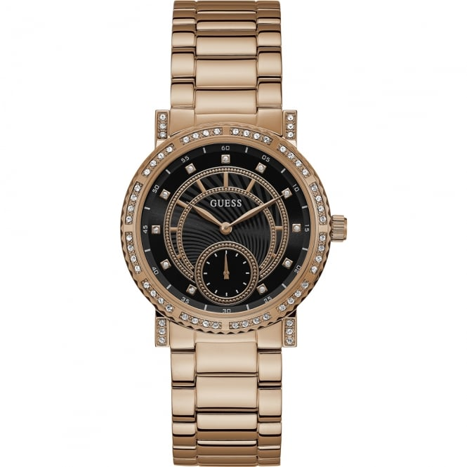 Guess Ladies Rose Gold Constellation Watch