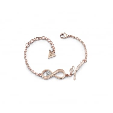 Guess Ladies Rose Gold Endless Love Bracelet