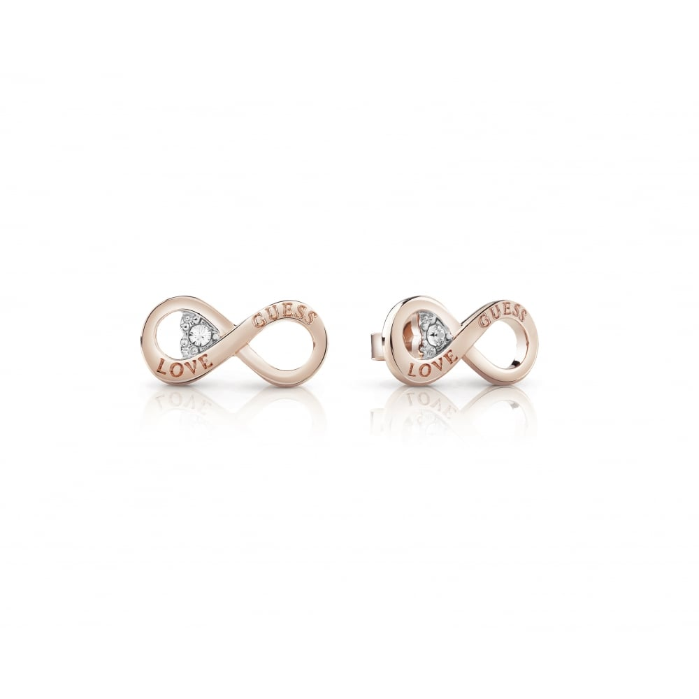 8aa476afd Guess Ladies Rose Gold Endless Love Stud Earrings - Jewellery from ...