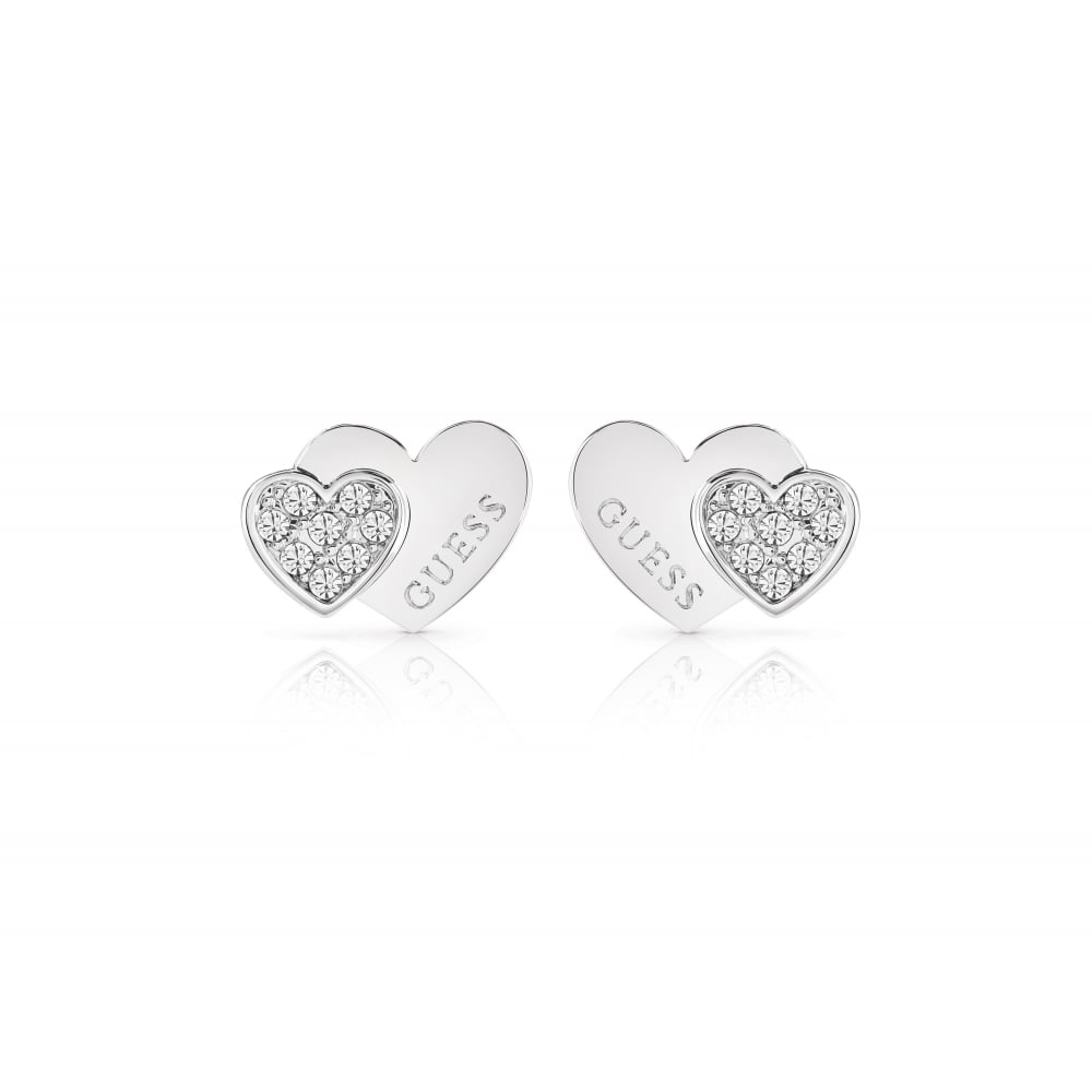 7b63a7c29 Guess Ladies Silver Plated Me & You Earrings - Jewellery from Faith ...