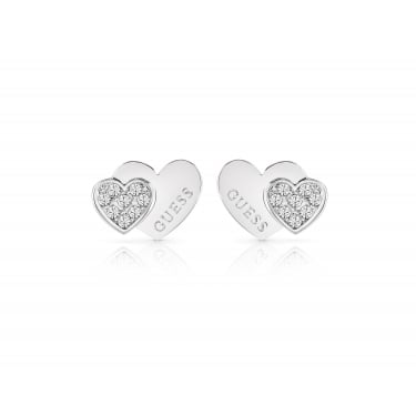 Guess Ladies Silver Plated Me & You Earrings