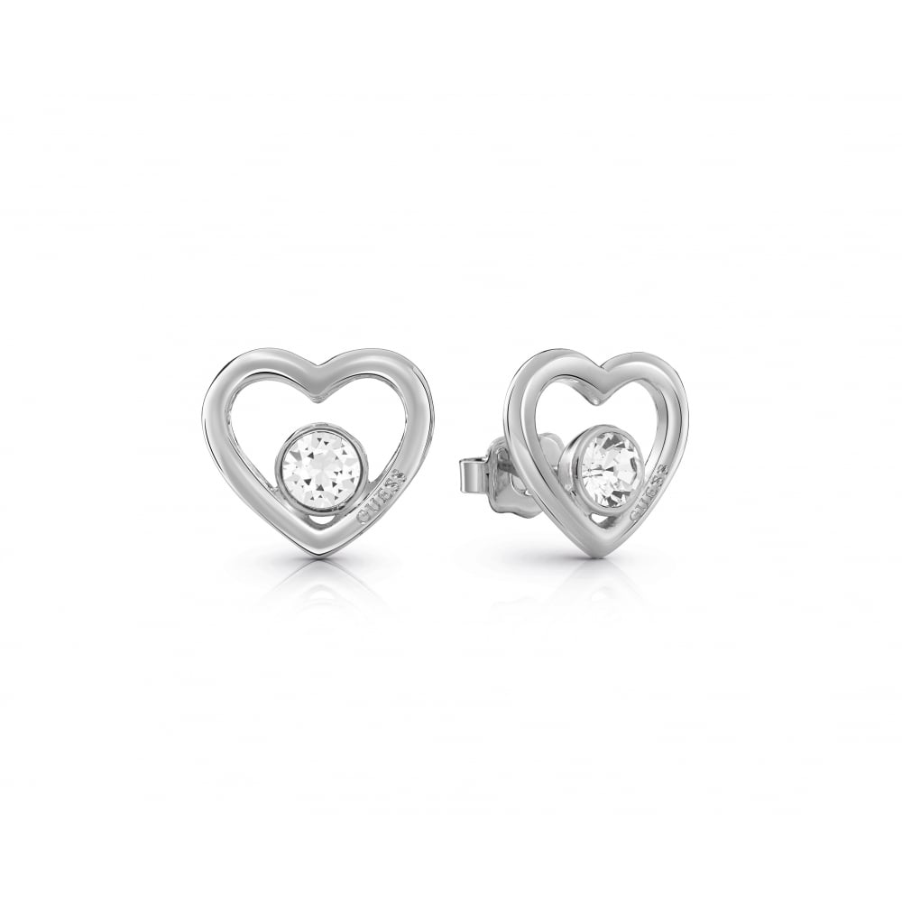 57b8b6428 Guess Ladies Silver Plated Princess Stud Earrings - Jewellery from ...