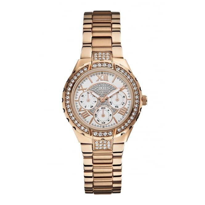Guess Ladies Viva Rose Gold Chronograph Watch STAR LINE*