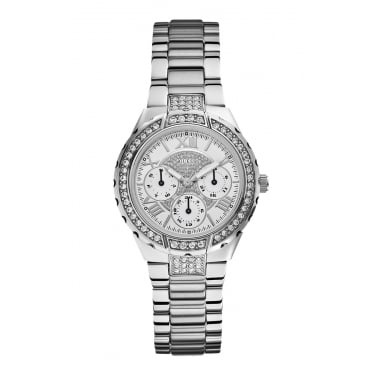 Guess Ladies Viva Silver Chronograph Watch