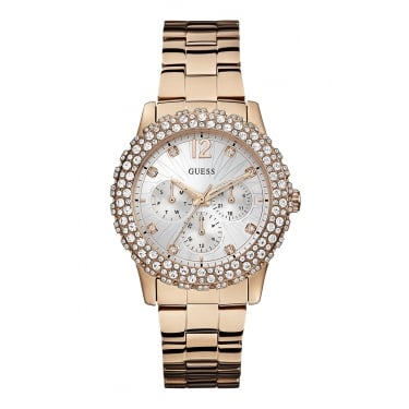 Guess Ladies Watch Dazzler Rose Gold