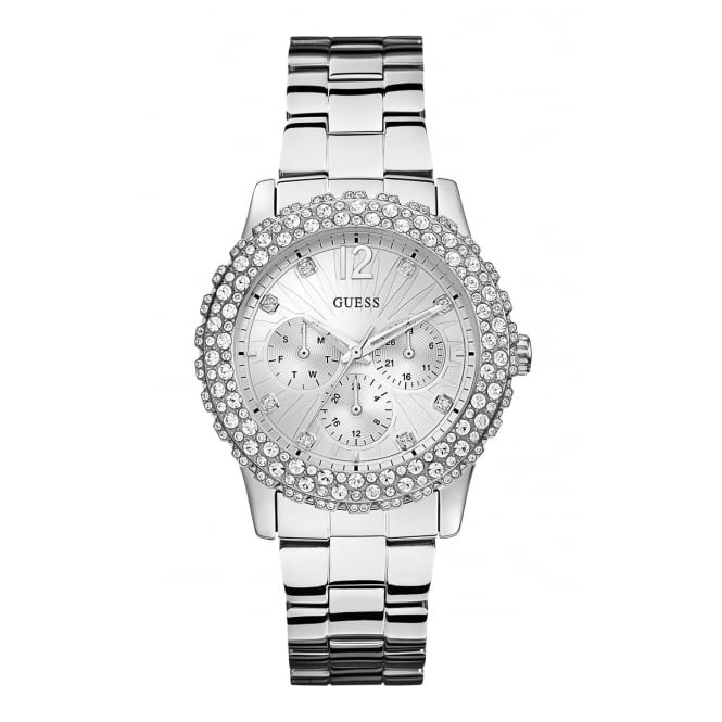 Guess Ladies Watch Dazzler Silver