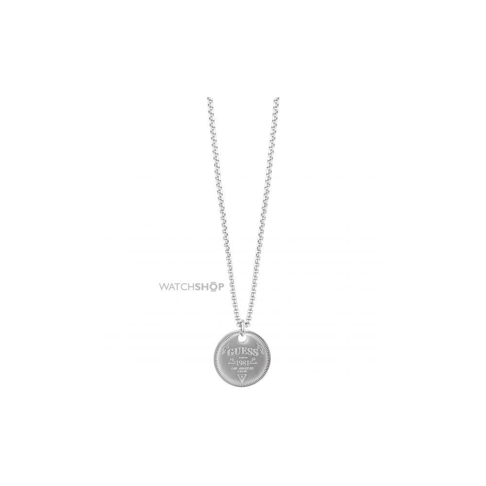 Guess mens jewellery shapes disc pendant necklaces from faith guess mens jewellery shapes disc pendant mozeypictures Image collections