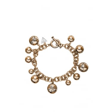 Guess Rose Gold Bauble Bracelet