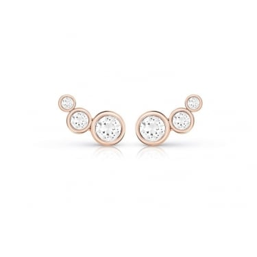 Guess Rose Gold Crystal Beauty Earrings
