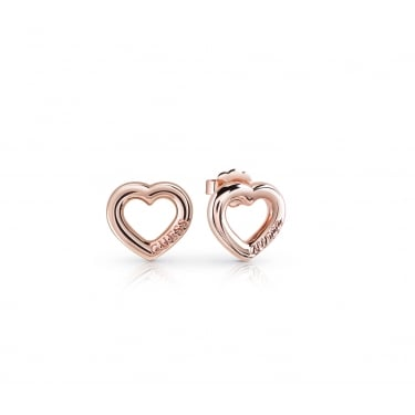 Guess Rose Gold Heart Earrings