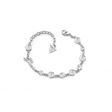 Guess Silver Crystal Beauty Bracelet