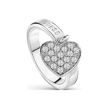 Guess Silver Heart Ring