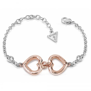 Guess Silver Rose Gold Grace Bracelet