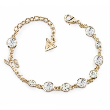 Guess Yellow Gold Crystal Beauty Bracelet